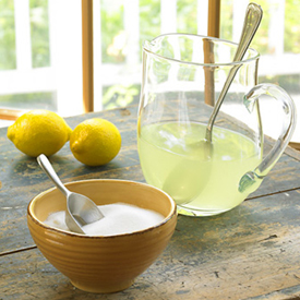 Sugar Lemon Juice Remedy