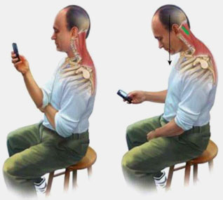 A few tips to reduce the risk of text neck