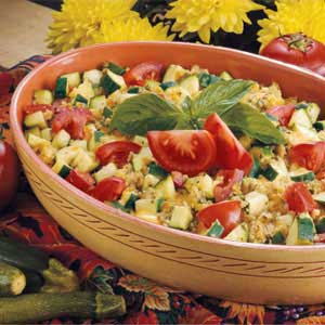 Tomato-Zucchini Strata