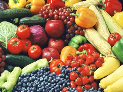 Eat 3-4 servings of fresh fruits and vegetables each