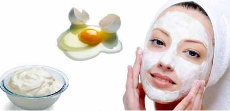 Yogurt and egg white face pack