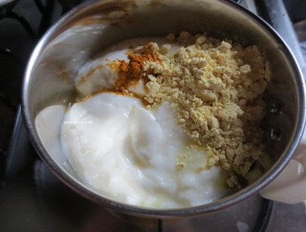 Yogurt Besan Turmeric Paste