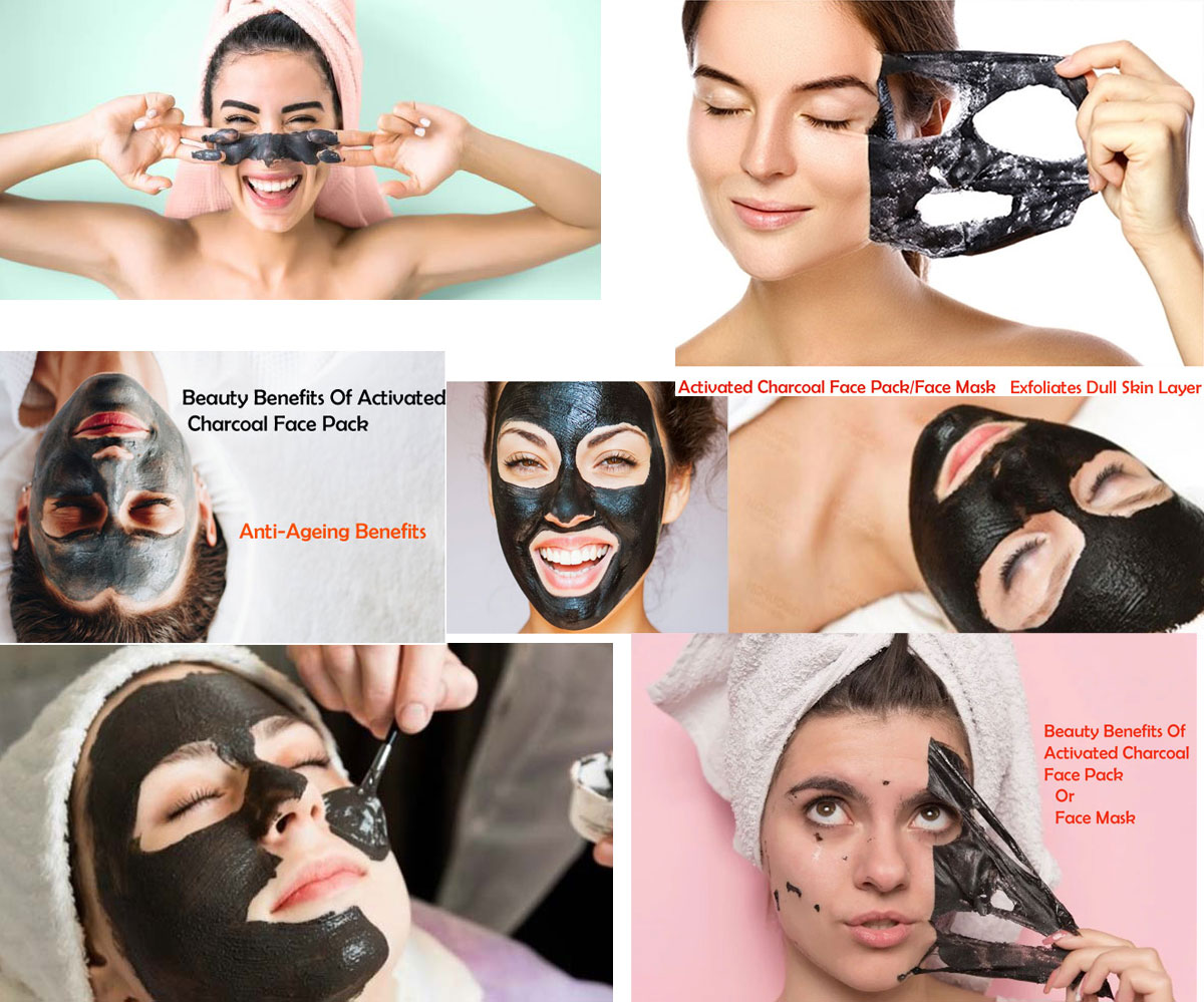 Beauty Benefits Of Activated Charcoal Face Pack/Face Mask