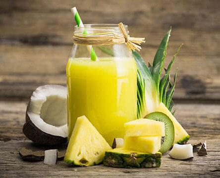 Coconut and Pineapple and Fennel Seed Drink For Fast Weight Loss