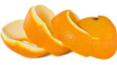Máscara de rosto de laranja