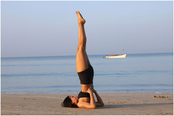 Sarvangasana or Shoulder stand pose to Boost Fertility