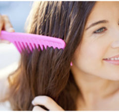 Use wide tooth brush to comb your hair as this leads to less breakage