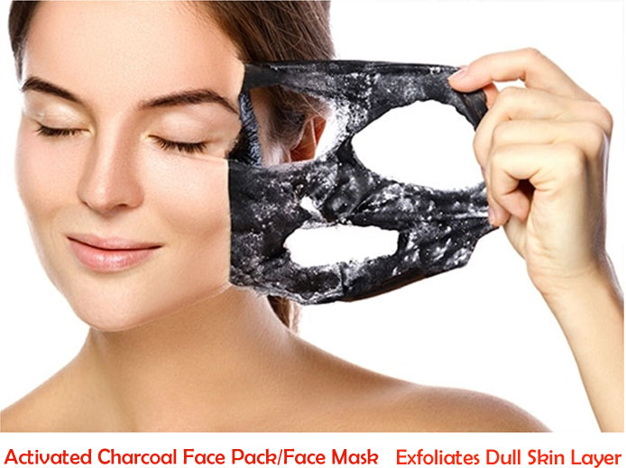 Activated Charcoal Face Pack - Exfoliates Dull Skin Layer