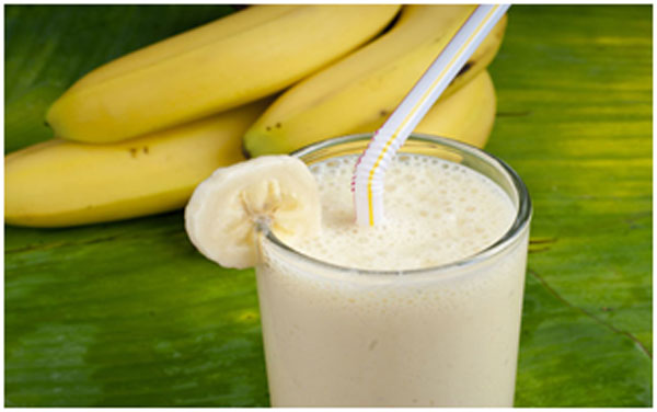Banana has antioxidants that detoxifies the body and keeps it clean