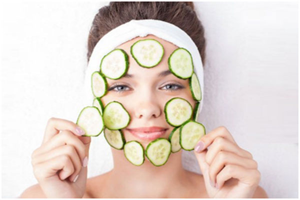 Cucumber helps in toning the skin and keeps it refreshed