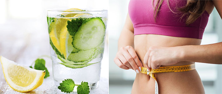 Cucumber And Mint And Lemon Detox Drinks