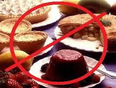 Do Not Eat Sugary Foods and Sweetened Beverages