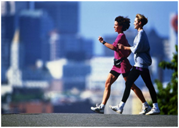 Brisk walking helps in burning fats on a faster rate