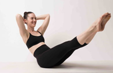 Half boat pose is very useful for burning tummy fat faster