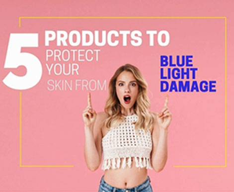 How to prevent skin-damaging from blue light?