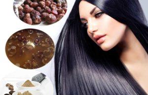 How to wash Scalp and Hair Using Soap Nuts / Kunkudukai / Reetha