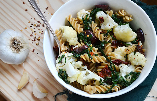 Kale and Cauliflower Pasta