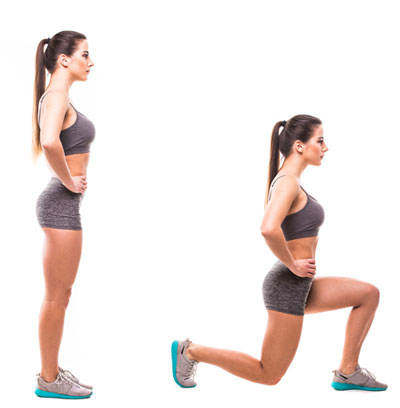 Lunge With Stationary Feet