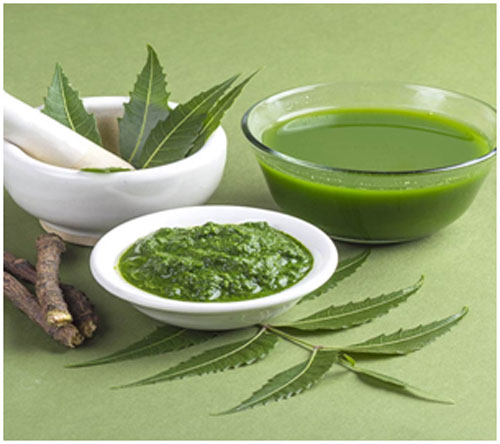 Neem leaves are antiseptic and moisturizing in nature that treats dry skin