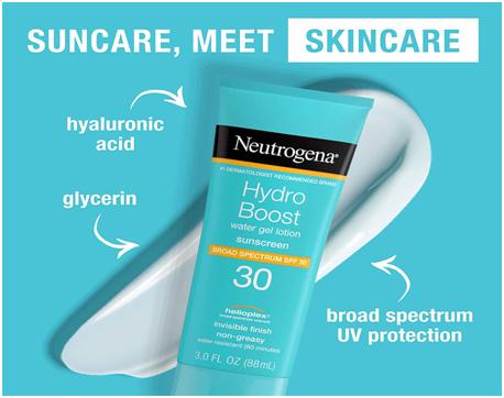 Neutrogena, Hydro Boost Water Gel Lotion Sunscreen SPF 50