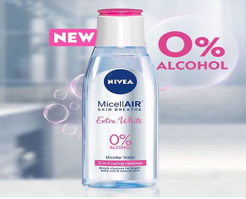 . Nivea Micellar Cleansing Water - Skin Breathe Rose Micellair