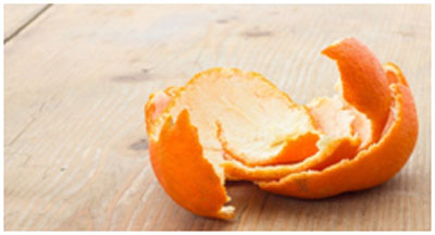 Orange peel helps in lightening the marks and keeps the skin bright