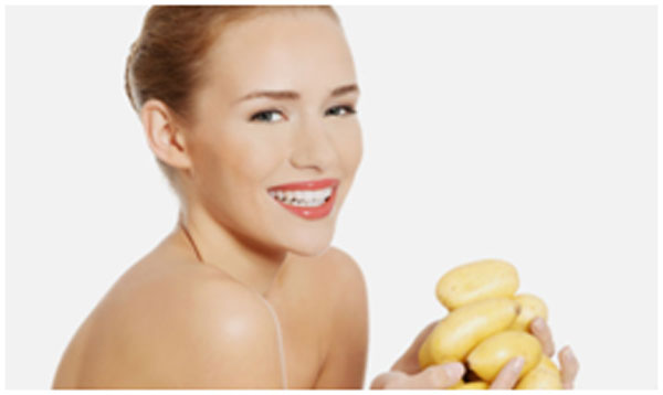 Potato has skin lightening properties that keeps sunburn at bay