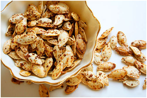 Pumpkin seeds are rich in protein and healthy fats