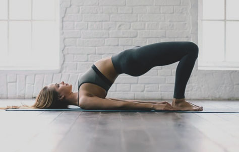 Setu Bandhasana pose/ Bridge Pose - Yoga Pose That Firm Up Your Breast