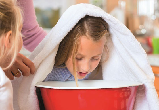 Steam - most effective home remedies for cold & cough in kids