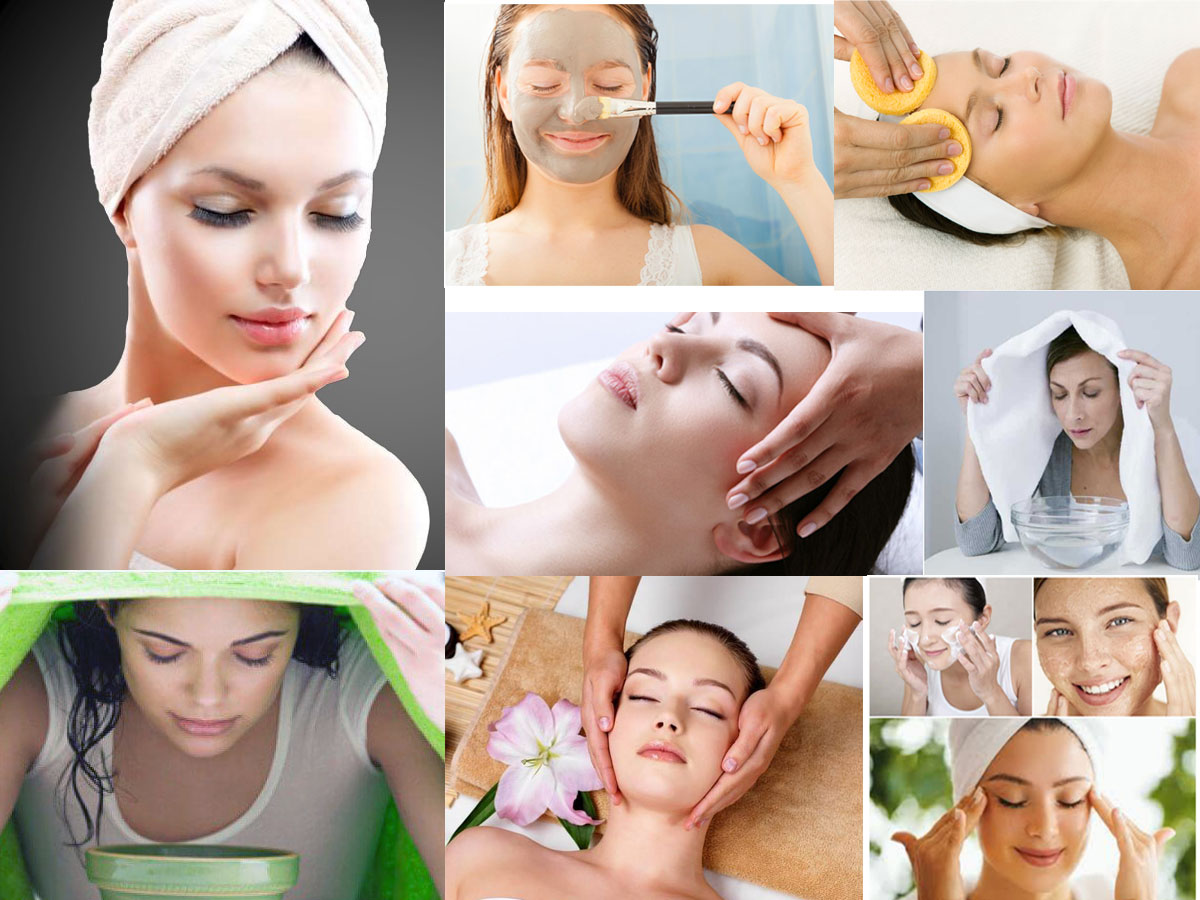 Home Facial: 7 Steps To Get Fabulous Skin Cleansing- Exfoliate- Steam- Massage- Mask- Serum- Moisturizer