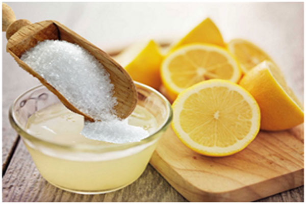 Sugar and lemon helps in exfoliating the skin and fades away tanning