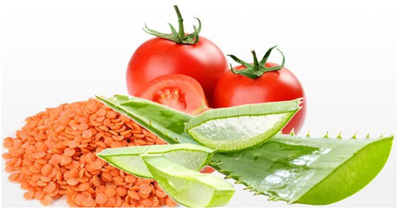 Aloe Vera, Red Lentil and Tomato Face Pack