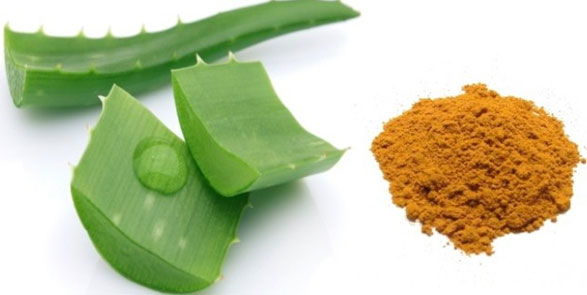 Aloe Vera And Turmeric Face Pack
